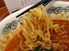 料理:坦々麺の麺@六壱○(ろくいちまる)・平尾