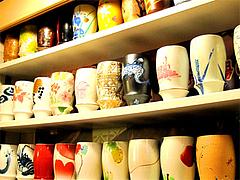 店内のビアカップ