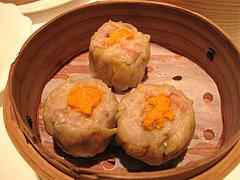 料理(蟹皇焼売仔):蟹の卵入りシューマイ@CHINA(チャイナ)・グランドハイアット福岡・キャナルシティ博多