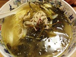 5酸菜肉糸糸麺500円@大明火鍋城