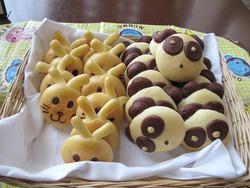 11お子様コーナーの動物パン@シアラブッフェ・ヒルトン福岡