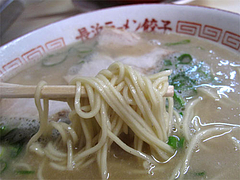 料理:ラーメン麺@長浜ラーメン・長浜御殿・長尾店