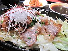 13ランチ:和牛カルビ鉄板定食@焼肉万歳・薬院店
