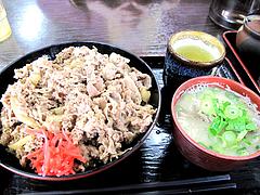7ランチ:牛肉肉丼と豚汁620円@資さんうどん・志免店