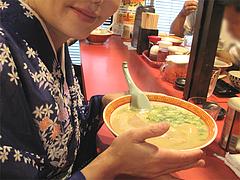 料理:ラーメン食べる@成金ラーメン・博多駅前