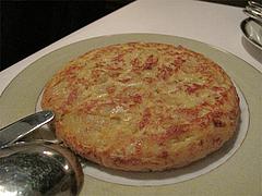 料理:ポテト入りスパニッシュオムレツ900円@Los Pinchos(ロス ピンチョス)・博多区網場町