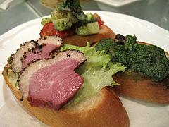 料理:ブルスケッタ3個@フィッシュ&オイスターバー・キャナルシティ博多