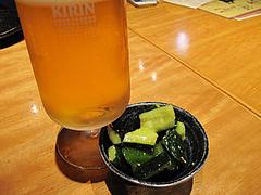 7居酒屋:生ビールときゅうり@とり乃屋・西中洲