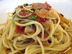 料理:ベーコンのシンプルペペロンチーノアップ@生パスタの店アンチョビ・平尾