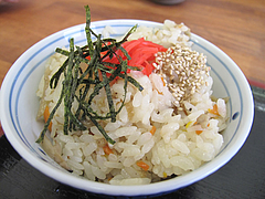 ランチ:鶏ごぼう飯@ちょんまげ侍・博多川端商店街