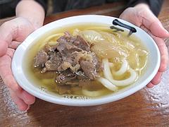 料理:肉入りうどん550円@かねいしうどん・博多駅東