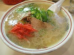 料理:ラーメン460円@長浜ラーメン一龍亭・博多区千代