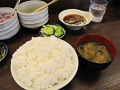料理:ごはんの大と味噌汁@だるまの天ぷら定食・吉塚本店