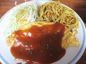 16カレー定食オムレツ@はいから亭