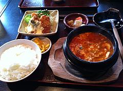 5ランチ:スンデゥブ韓国膳@大衆居食家しょうき・長住店