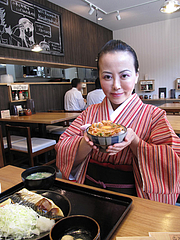 13ランチ:焼き魚定食650円+キムチ卵かけごはん90円@日の出食堂・博多駅前