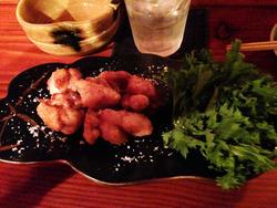 12鶏もも肉の塩唐揚げ・石巻塩@隠空