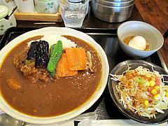 料理:野菜カレーセット750円(特辛)@博多伽哩家かかろっと