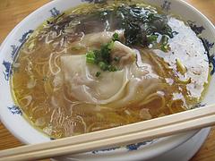 ランチ:肉福ワンタン麺550円@黄金の福ワンタンまくり
