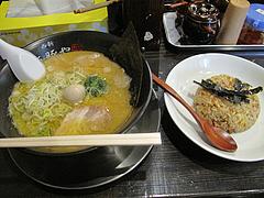 16ランチ:ラーメン580円+半チャーハン220円@海豚や・大橋店