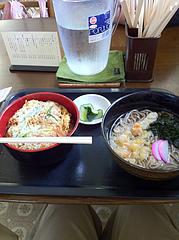 6ランチ:カツ丼セット600円@うどん盛安・福岡大学近く