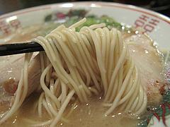 12ランチ:久留米ラーメン麺@元祖久留米豚骨ラーメン・福ヤ・薬院大通り店