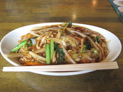7肉焼きそば650円@ウエスト中華麺飯