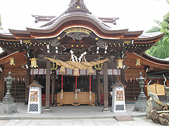 外観:櫛田神社・本殿@博多つけ蕎麦・串揚げ・博多大乗路・櫛田神社