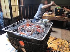 料理:七輪@地鶏炭火焼・佐土野家・湯布院(由布院)