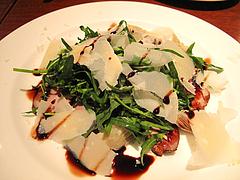 夜:鴨の燻製とルッコラとパルミジャーノ@イタリアン・トラットリア・ ウーノ(Trattoria-Uno)