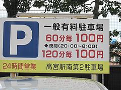 20外観:西鉄電車高架下駐車場@食季楽・風香・高宮