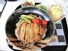 料理:とんかつ甘麺トマト風味セット1,300円@麺処・甘(かん)