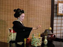 祇園甲部歌練場のお茶