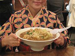 料理:もつちゃんぽんの大きさ@元祖博多だるま・博多デイトス店