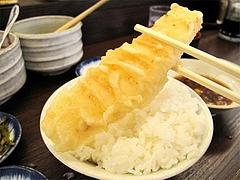 料理:イカの天ぷら150円@だるまの天ぷら定食・吉塚本店