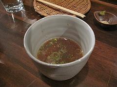 18つけ麺:スープ割り@麺道はなもこし(花もこし)・薬院