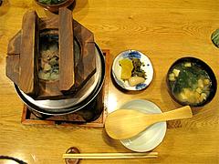 料理13:釜飯セット@串焼き・釜飯の俵・久留米
