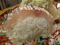 19料理:ぐぢ姿寿司アップ@京寿司ランチ・祇園いづ重
