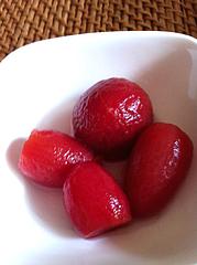 ミニトマト食べる@トマトのみりん漬け