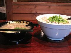 11ランチ:ラーメンとちゃんぽん側面@麺倶楽部・居酒屋げんき・春吉