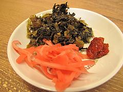 料理:辛子高菜と紅しょうが@博多金龍ラーメン・長住