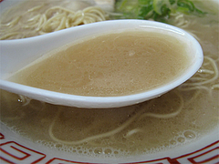 料理:ラーメンのスープ@長浜大将・長浜ラーメン街