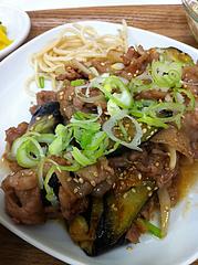 5ランチ:茄子と豚肉の味噌炒め@定食屋・ごはんのアロハ・春吉
