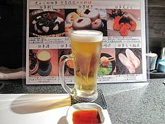 4和食:生ビール@英二楼・河豚料理・海鮮居酒屋