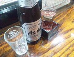 料理:ビールと日本酒@居酒屋・日本海・雑餉隈(ざっしょのくま)