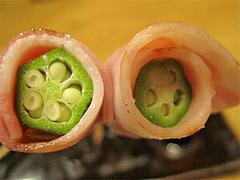 料理6:オクラベーコン@串焼き・釜飯の俵・久留米