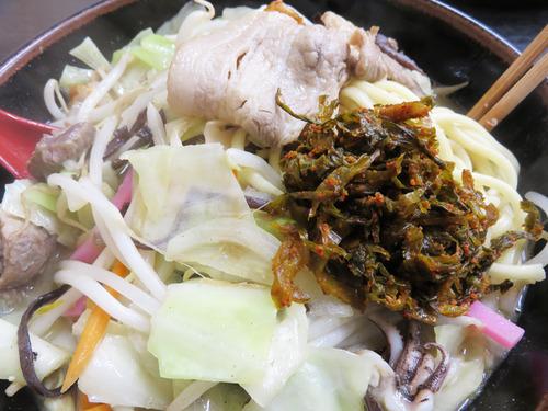 11すじ煮込みチャンポン高菜