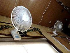 店内:扇風機@インドカレーGLORY(グローリー)・七隈