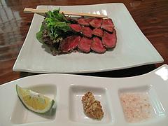 料理:黒毛和牛の温泉蒸し1,600円@湯の岳庵・亀の井別荘