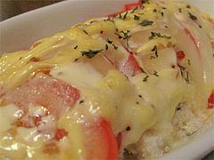料理:トマトのチーズオーブン焼きアップ@インターネットカフェ『キャットクレア CAT CREA』・グアム